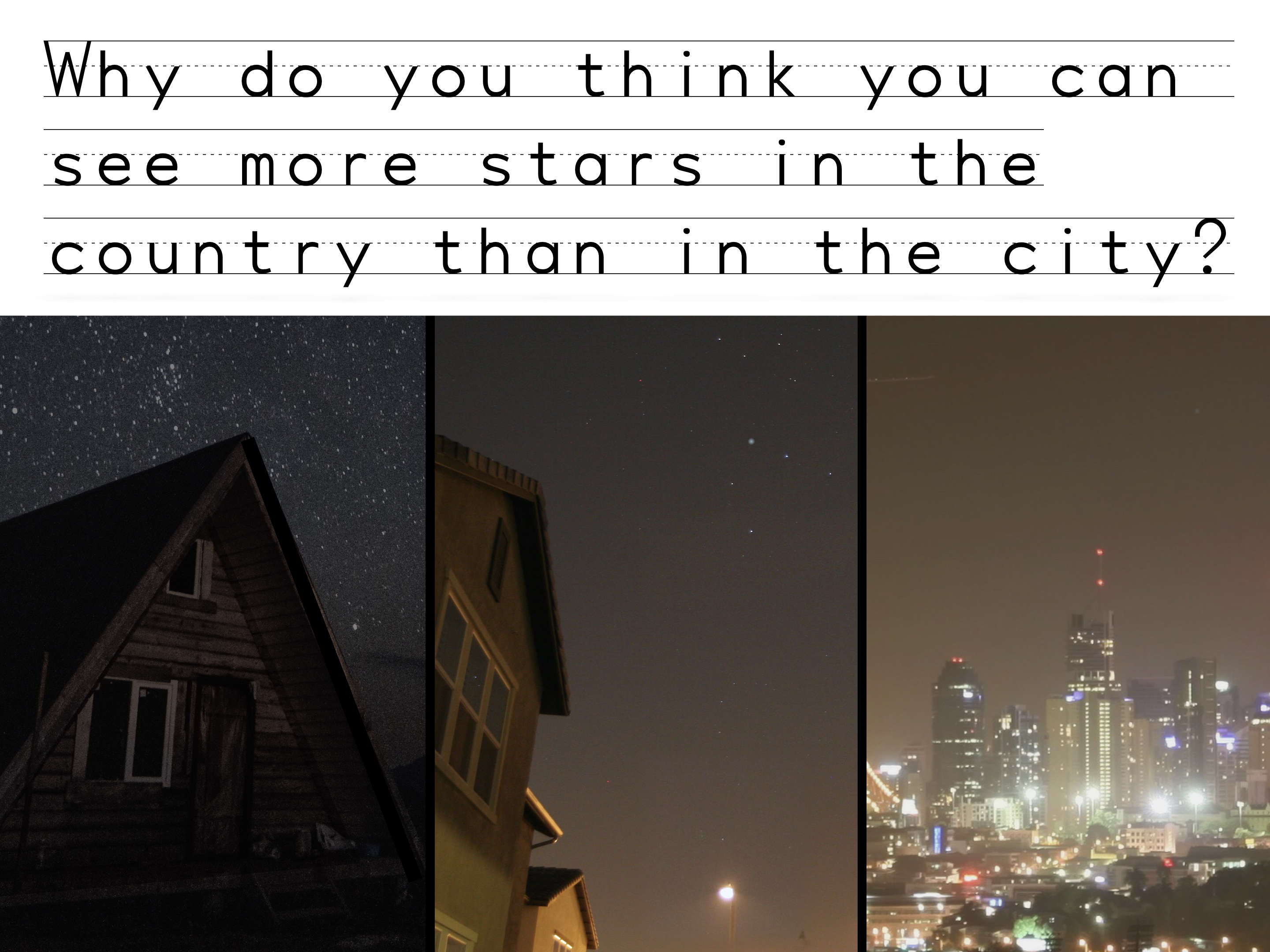 Stars in the country vs city