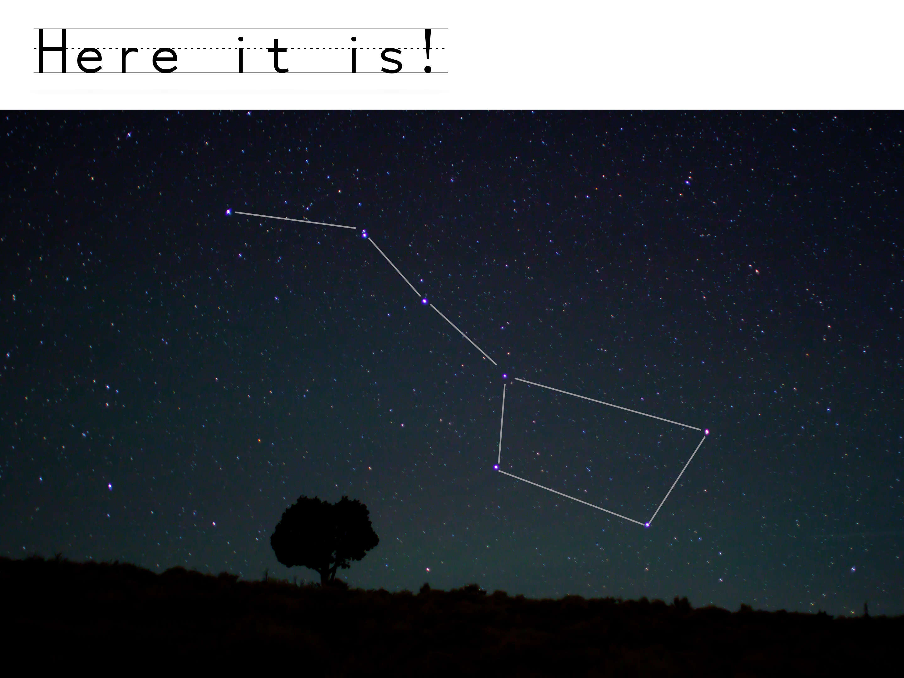 Big Dipper revealed